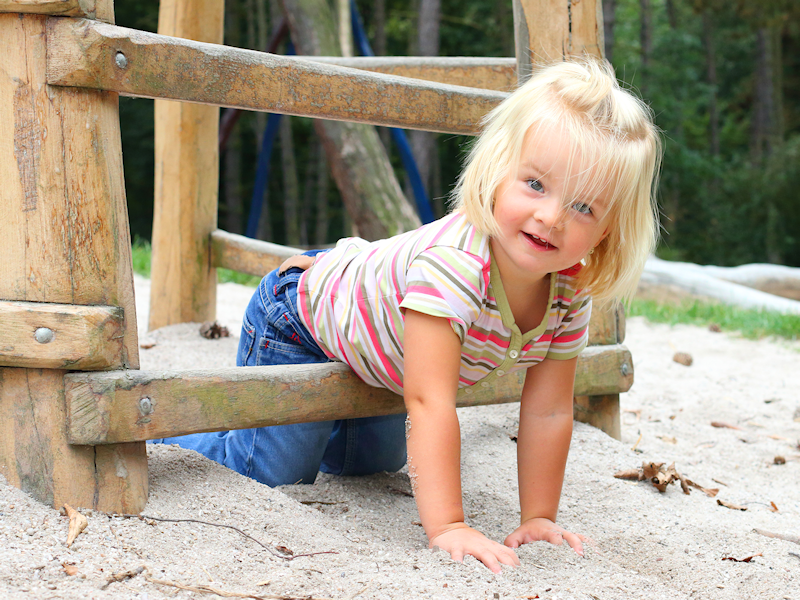 Girl in Sandpit